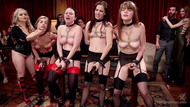 100 Orgasm Slave Girl Orgy