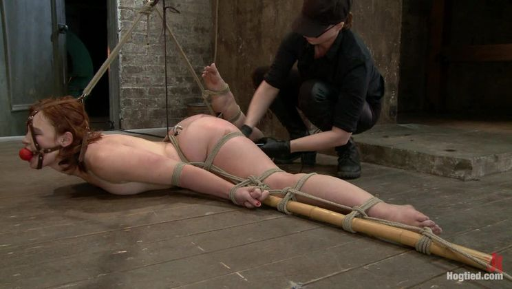 Jodi Taylor: Eager slut elaborately bound, caned, zapped and fucked!