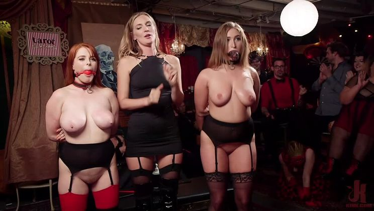 Squirting Slave Sluts Inspire A BDSM Halloween Orgy