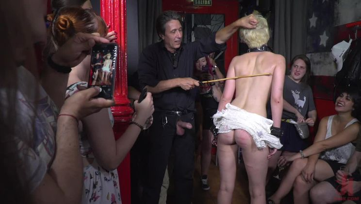 Petite Whore Molly Saint Rose Fucked and Humiliated in Public Plaza!!