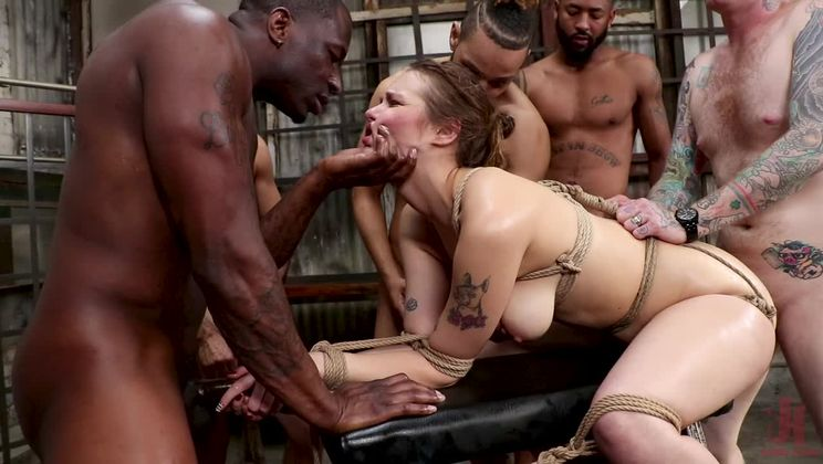 Cute Delivery Girl Gets Dp'd for the First Time by Horny Customers