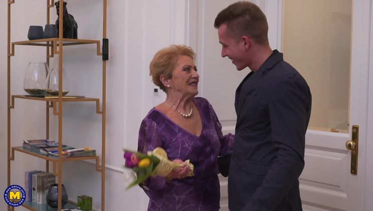 Granny has made a special dinner for her toyboy
